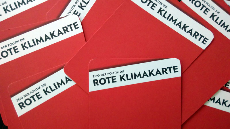 Rote Klimakarte
