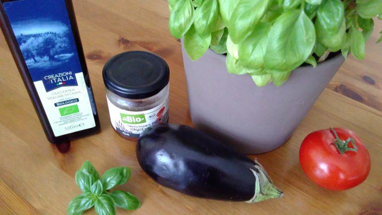 Aubergine-Tomate-Basilikum-Aufstrich